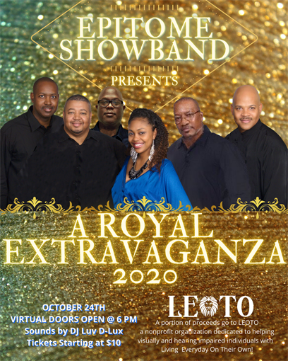 Flyer ad - Epitome ShowBand presents A Royal Extravaganza 2020