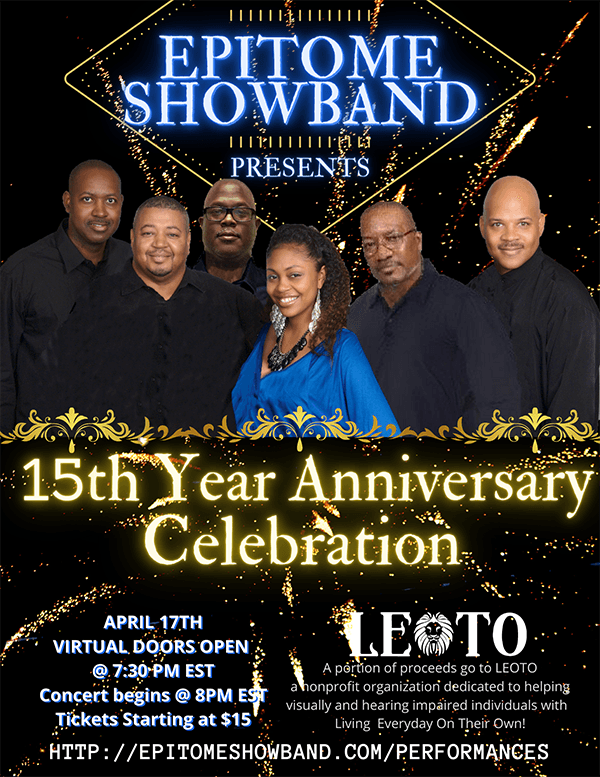 Flyer ad - Epitome ShowBand presents 15th Year Anniversary Celebration