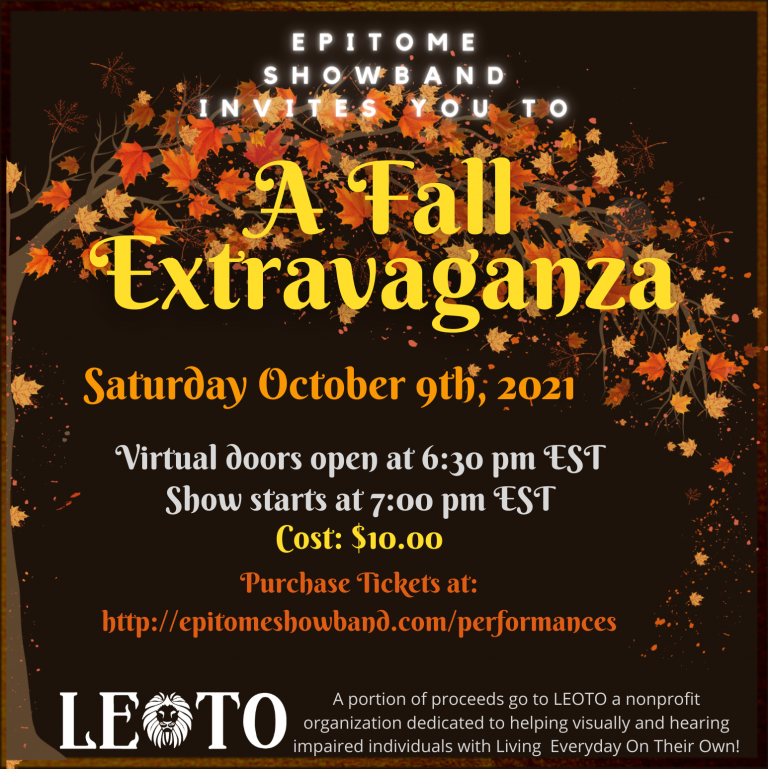 October 9th flyer for Epitome ShowBand's Fall Extravaganza